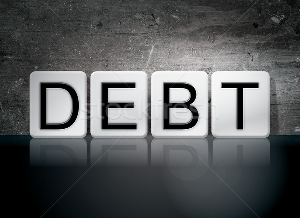 Debt Tiled Letters Concept and Theme Stock photo © enterlinedesign