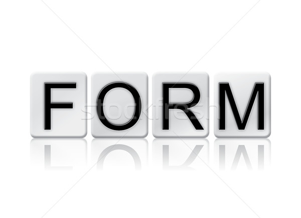 Form Isolated Tiled Letters Concept and Theme Stock photo © enterlinedesign