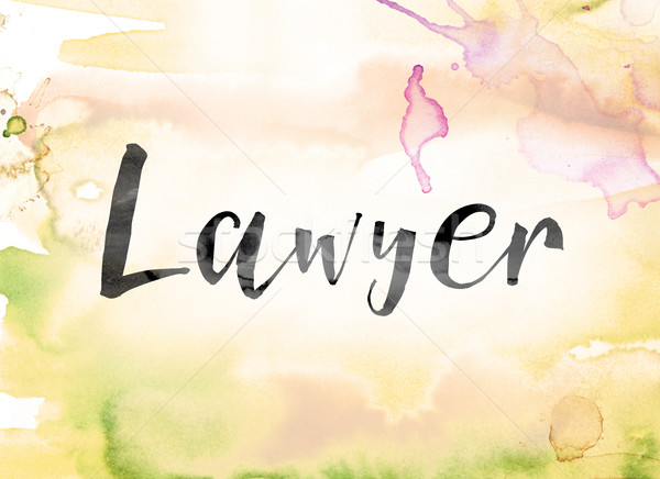 Lawyer Colorful Watercolor and Ink Word Art Stock photo © enterlinedesign