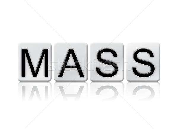 Mass Isolated Tiled Letters Concept and Theme Stock photo © enterlinedesign