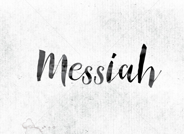 Messiah Concept Painted in Ink Stock photo © enterlinedesign
