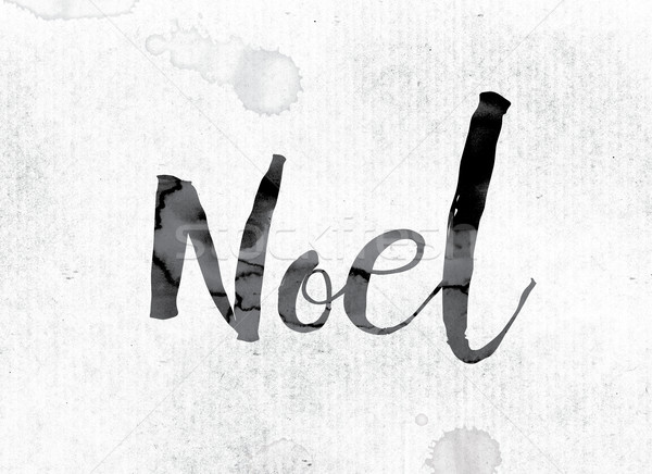 Noel Concept Painted in Ink Stock photo © enterlinedesign