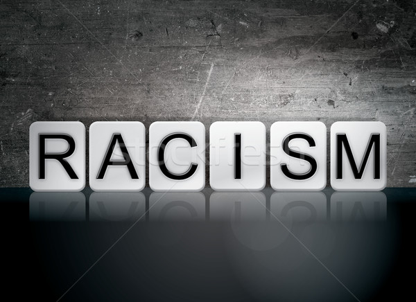 Racism Tiled Letters Concept and Theme Stock photo © enterlinedesign