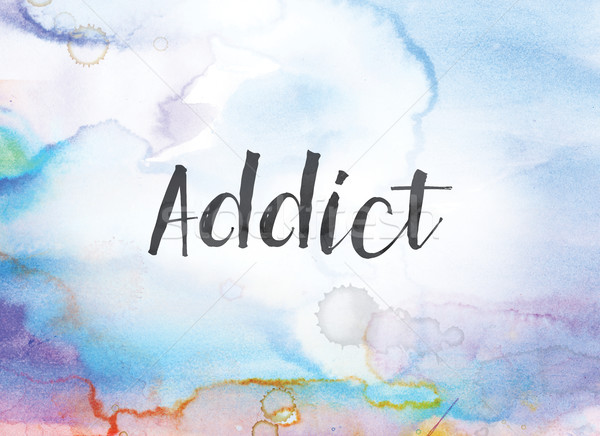 Addict Concept Watercolor and Ink Painting Stock photo © enterlinedesign