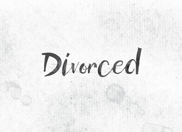 Divorced Concept Painted Ink Word and Theme Stock photo © enterlinedesign