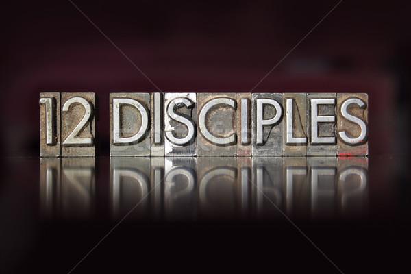 Twelve Disciples Letterpress Stock photo © enterlinedesign