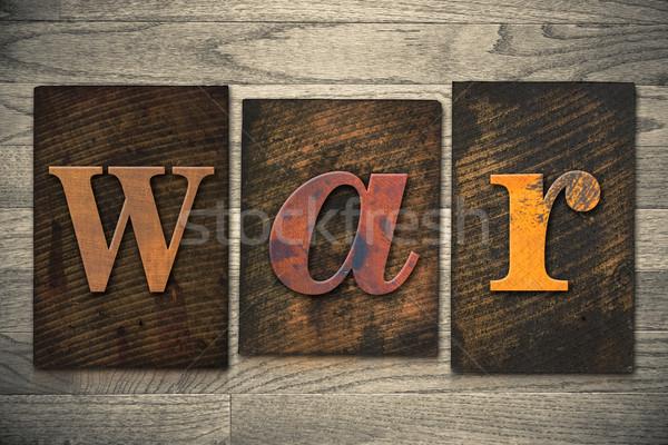 Guerra tipo palavra escrito Foto stock © enterlinedesign