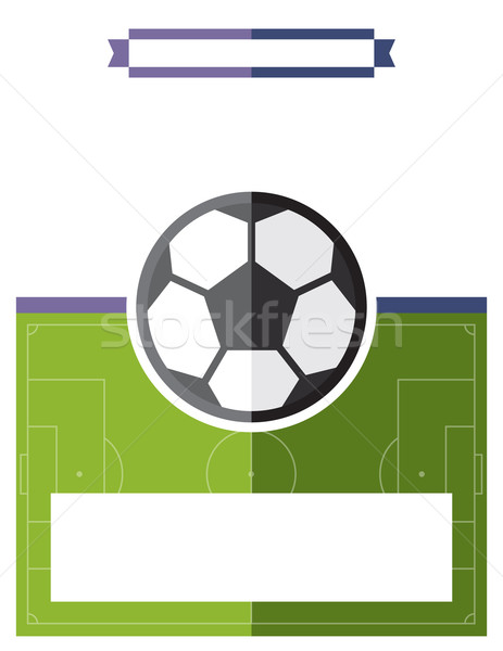 Futebol jogo de futebol aviador ilustração modelo vetor Foto stock © enterlinedesign