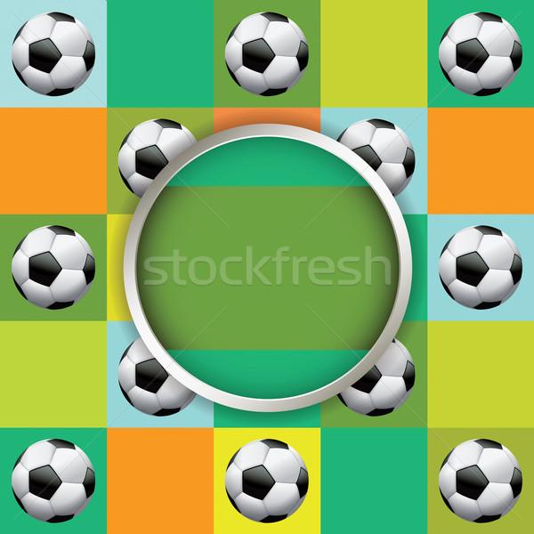 Vector torneo de fútbol ilustración agradable diseno evento Foto stock © enterlinedesign
