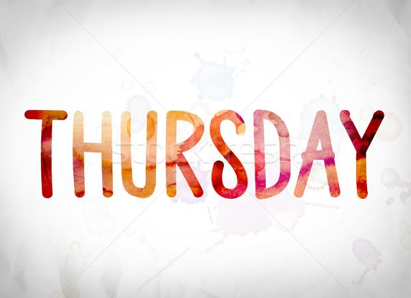 Thursday Concept Water...