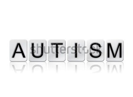 Autisme geïsoleerd betegelde brieven woord geschreven Stockfoto © enterlinedesign