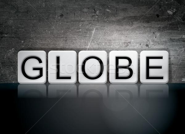 мира плиточные письма слово написанный белый Сток-фото © enterlinedesign