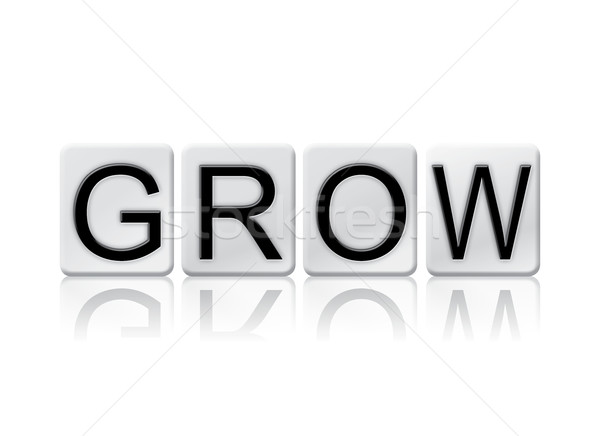 Grow Isolated Tiled Letters Concept and Theme Stock photo © enterlinedesign