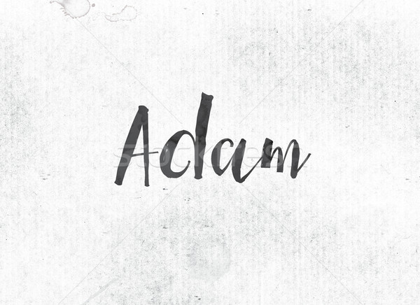Adam Concept Painted Ink Word and Theme Stock photo © enterlinedesign
