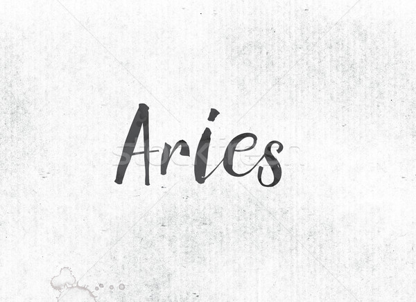 Aries Concept Painted Ink Word and Theme Stock photo © enterlinedesign