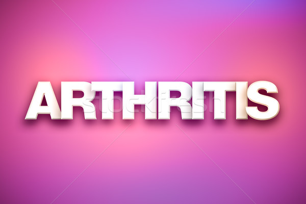 Arthritis Theme Word Art on Colorful Background Stock photo © enterlinedesign