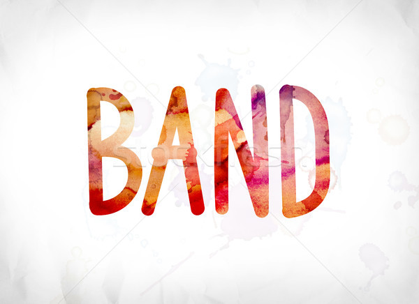 Band Concept Painted Watercolor Word Art Stock photo © enterlinedesign