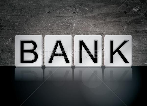 Bank Concept Tiled Word Stock photo © enterlinedesign