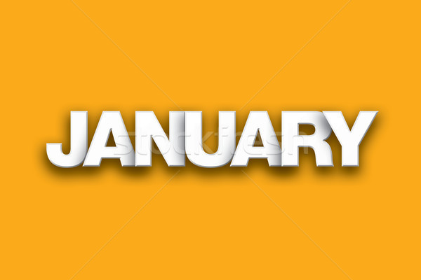 January Theme Word Art on Colorful Background Stock photo © enterlinedesign