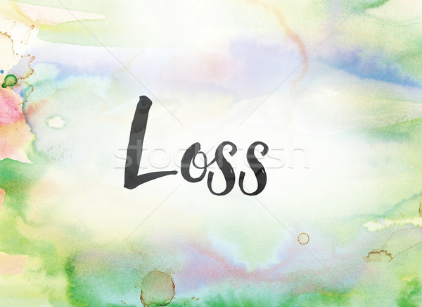 Loss Concept Watercolor and Ink Painting Stock photo © enterlinedesign