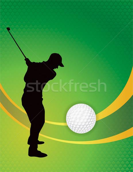 Golf Theme Background Illustration Stock photo © enterlinedesign