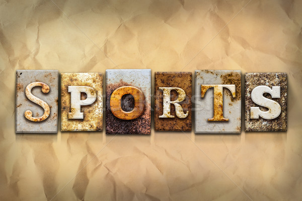 Sports Concept Rusted Metal Type Stock photo © enterlinedesign