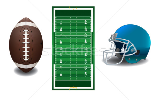 American Football Elements Illustration Stock photo © enterlinedesign