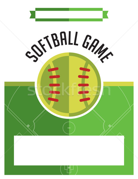 Softball jeu flyer illustration modèle vecteur Photo stock © enterlinedesign