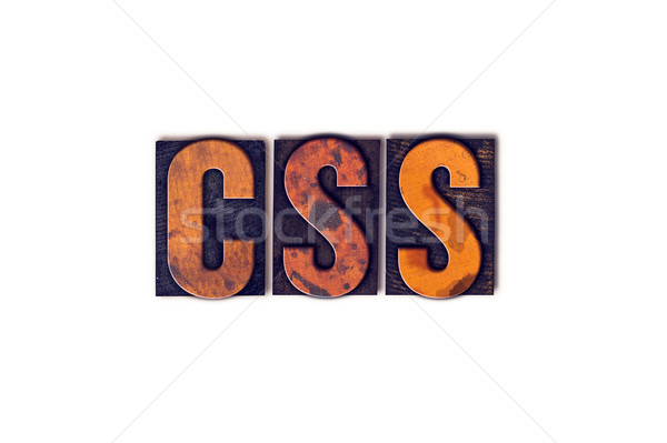 CSS Concept Isolated Letterpress Type Stock photo © enterlinedesign