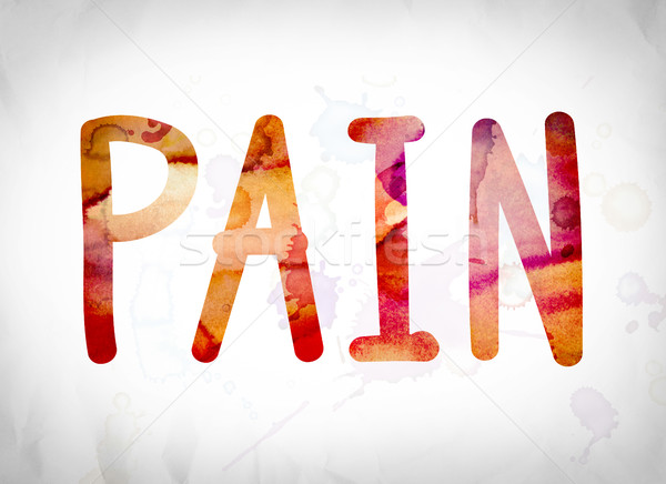 Pain Concept Watercolor Word Art Stock photo © enterlinedesign