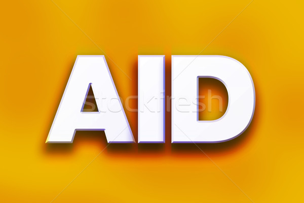 Aid Concept Colorful Word Art Stock photo © enterlinedesign
