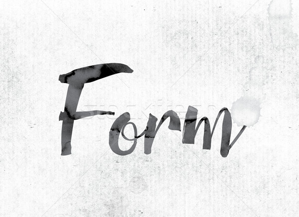 Form Concept Painted in Ink Stock photo © enterlinedesign