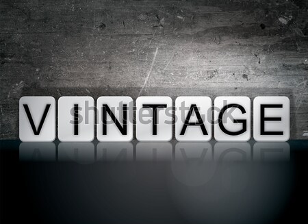 Vintage Isolated Tiled Letters Concept and Theme Stock photo © enterlinedesign