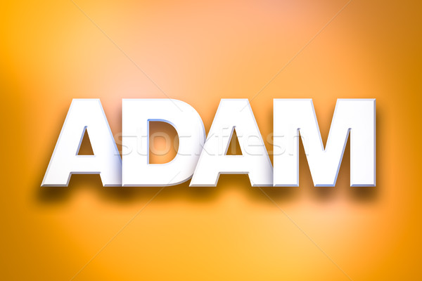 Adam Theme Word Art on Colorful Background Stock photo © enterlinedesign