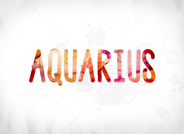 Aquarius Concept Painted Watercolor Word Art Stock photo © enterlinedesign