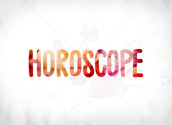Horoscope Concept Painted Watercolor Word Art Stock photo © enterlinedesign