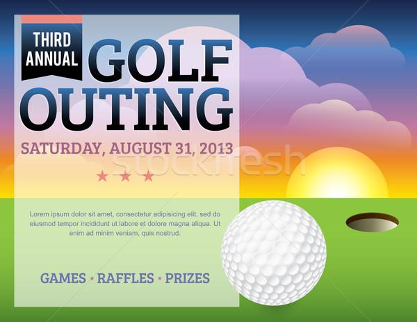 Golf Tournament Invitation Design Stock photo © enterlinedesign