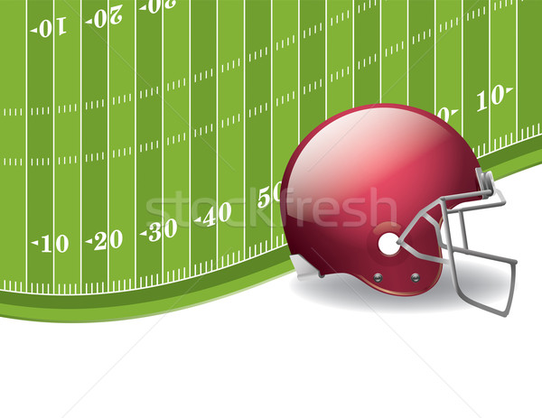 American Football Field and Helmet Background Stock photo © enterlinedesign