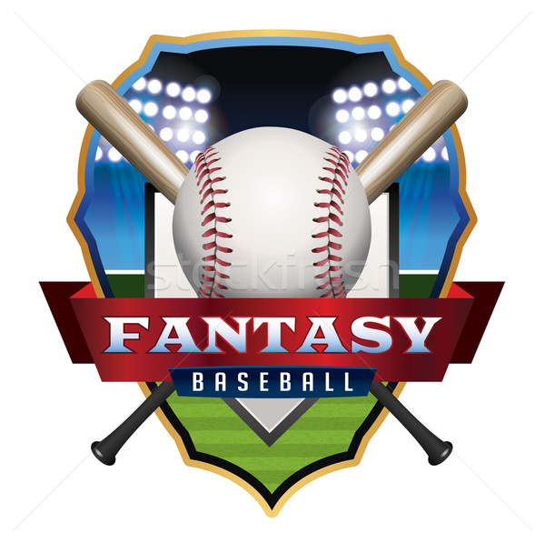 Fantasy Baseball Emblem Illustration Stock photo © enterlinedesign