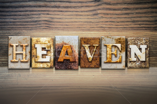 Heaven Concept Letterpress Theme Stock photo © enterlinedesign