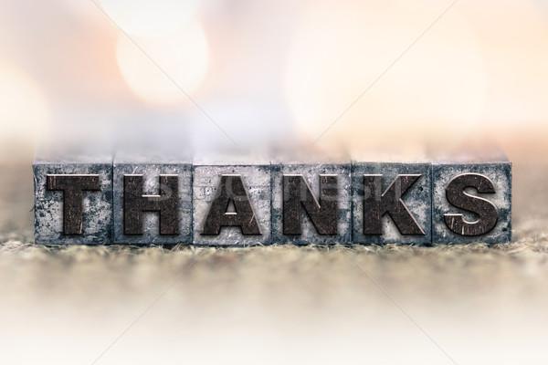 Gracias vintage tipo palabra escrito Foto stock © enterlinedesign