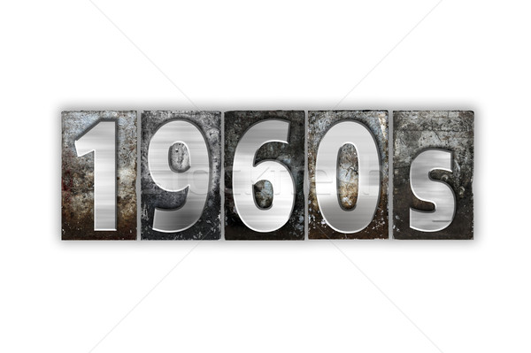 Stock photo: 1960s Concept Isolated Metal Letterpress Type