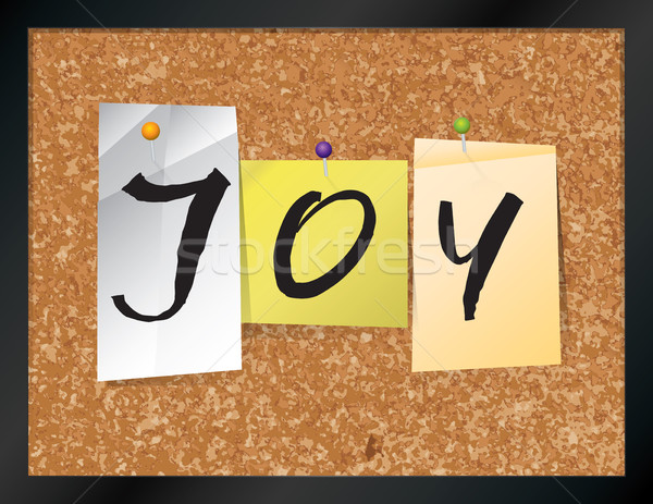 Joy Bulletin Board Theme Illustration Stock photo © enterlinedesign