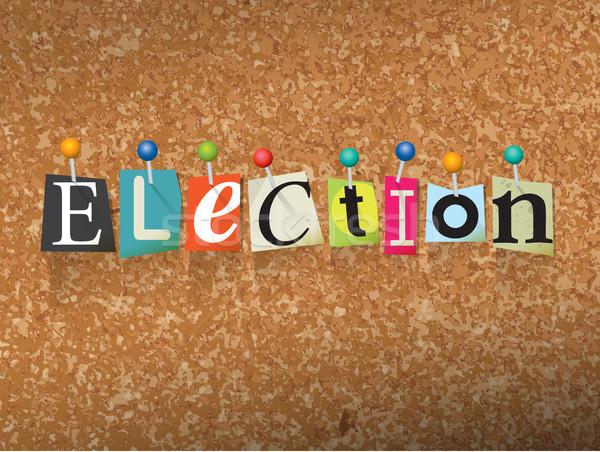 Wyborów litery ilustracja słowo napisany cięcia Zdjęcia stock © enterlinedesign