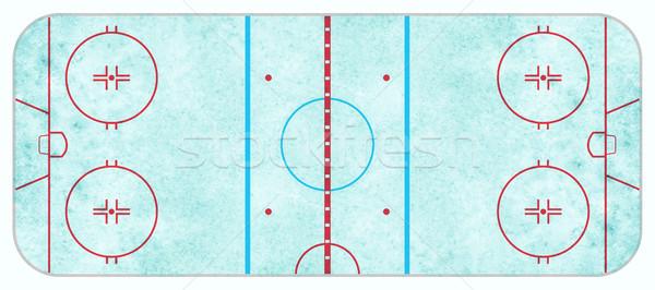 Widok z lotu ptaka hokej niebieski regulacja Zdjęcia stock © enterlinedesign