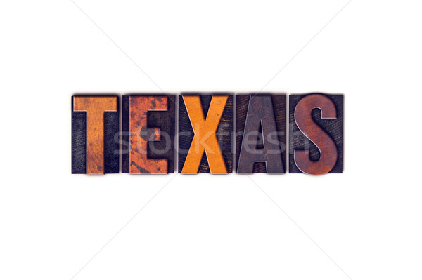 Texas odizolowany typu słowo napisany Zdjęcia stock © enterlinedesign