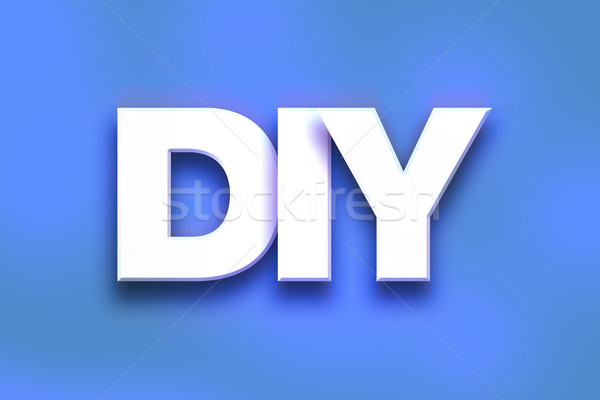 DIY Concept Colorful Word Art Stock photo © enterlinedesign