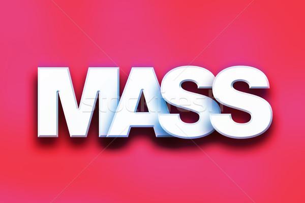 Kitle renkli kelime sanat yazılı beyaz Stok fotoğraf © enterlinedesign