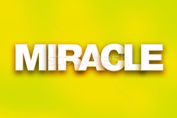 Miracle coloré mot art écrit blanche Photo stock © enterlinedesign
