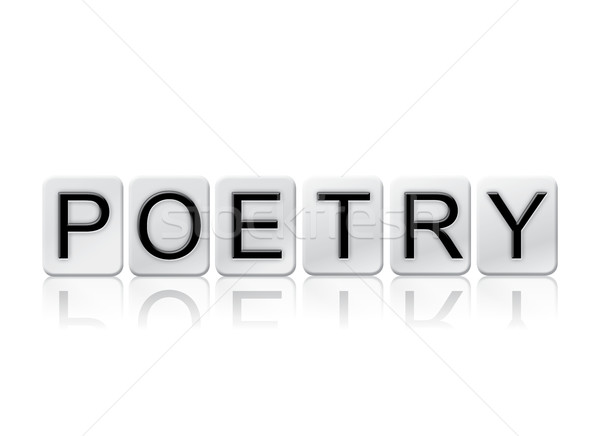 Poetry Isolated Tiled Letters Concept and Theme Stock photo © enterlinedesign